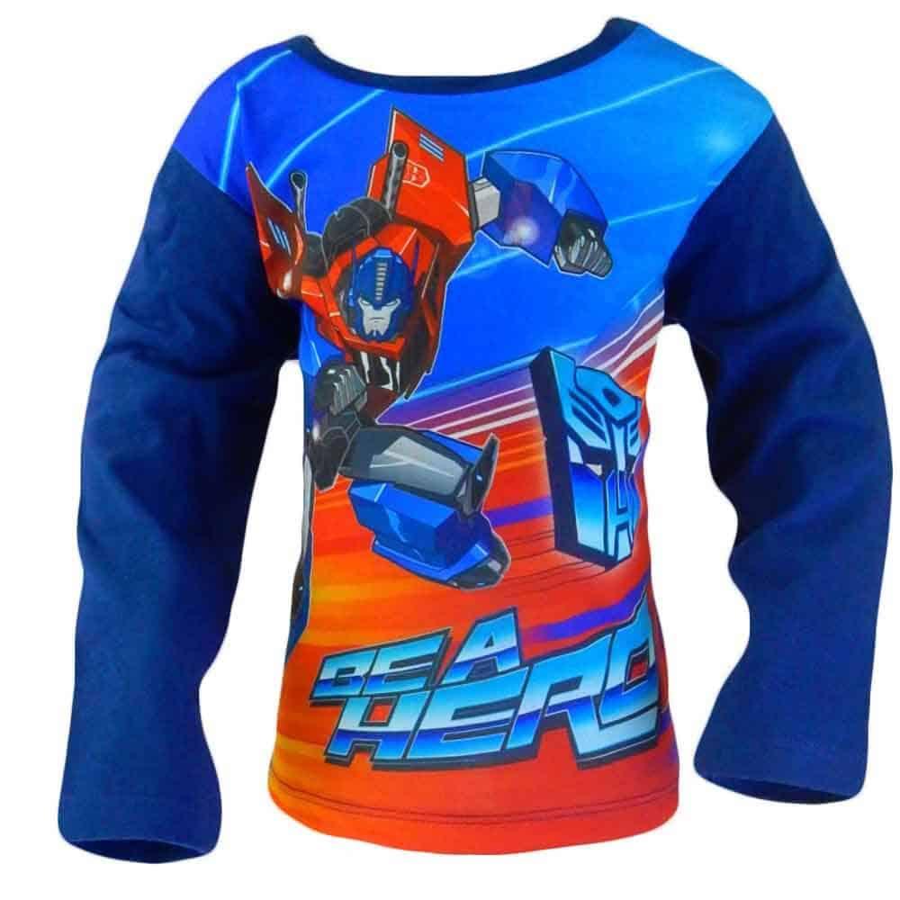 Alege haine copii. Bluza baieti albastra Transformers
