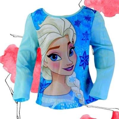 Alege haine copii. Bluza fete Elsa albastra