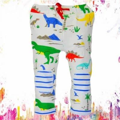 Pantaloni de trening pentru baieti cu Dinozauri colorati