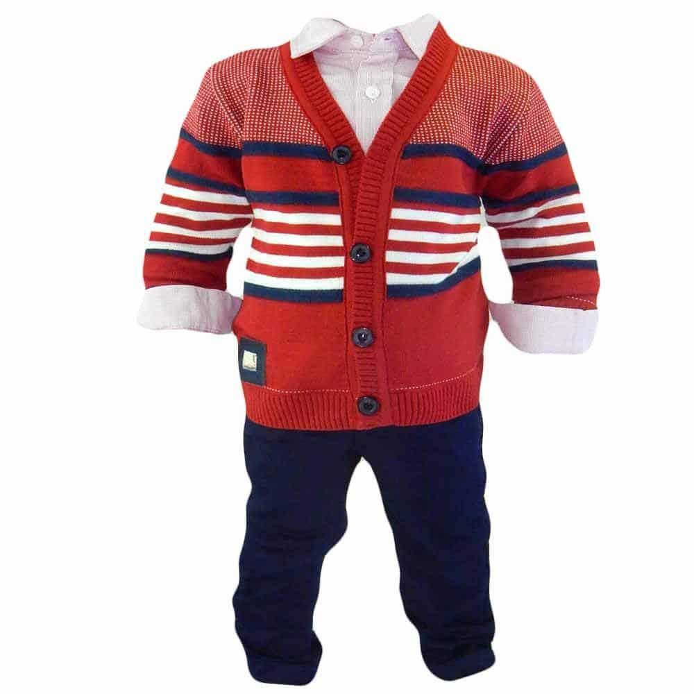 Compleuri chic pentru bebelusi. Costum cu pulovaras