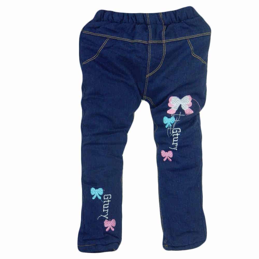 Blugi fete de iarna. Pantaloni grosi