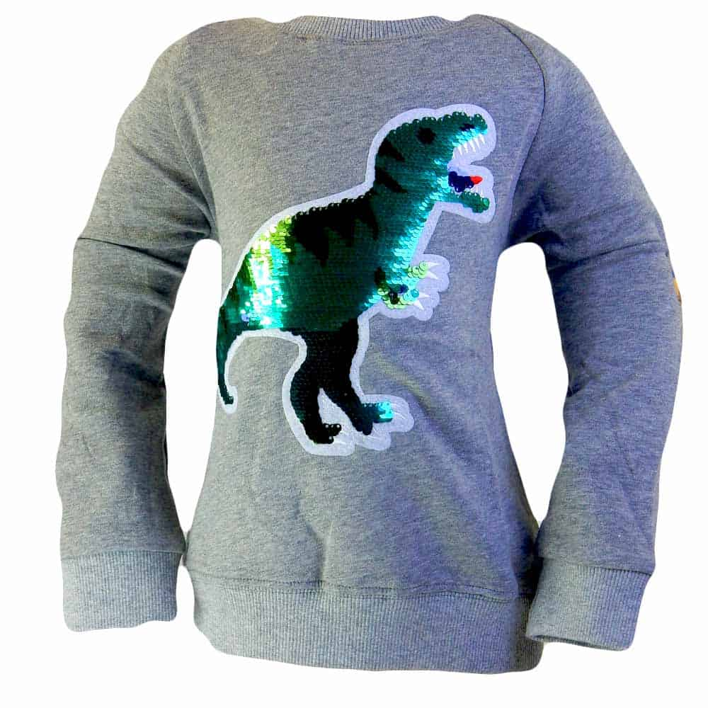 Bluze pentru copii cu paiete Dinozaur