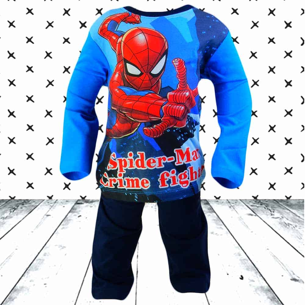 Pijamale baieti bumbac. Pijamale Spiderman