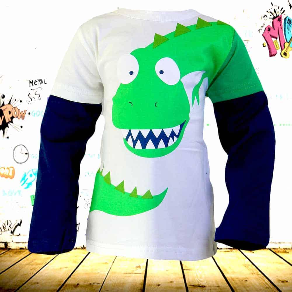 Bluza baieti cu Dinozaur. Haine copii ieftine