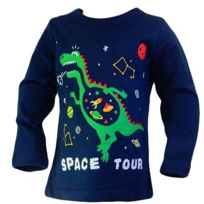 Bluza baieti cu Dino in Spatiu. Haine copii