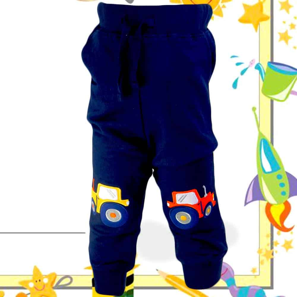Pantaloni de trening copii cu Tractoare