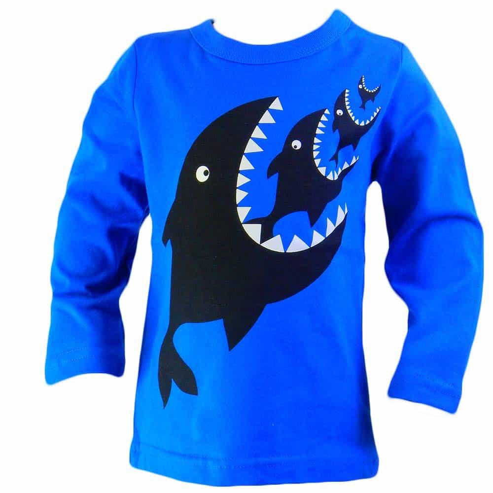 Bluza baieti cu rechini. Haine copii