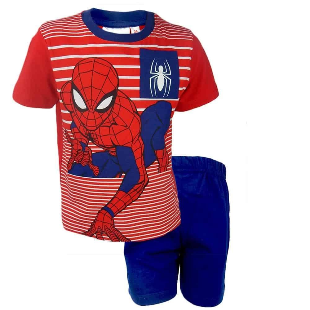 Set de vara baieti cu Spider Man. Haine copii
