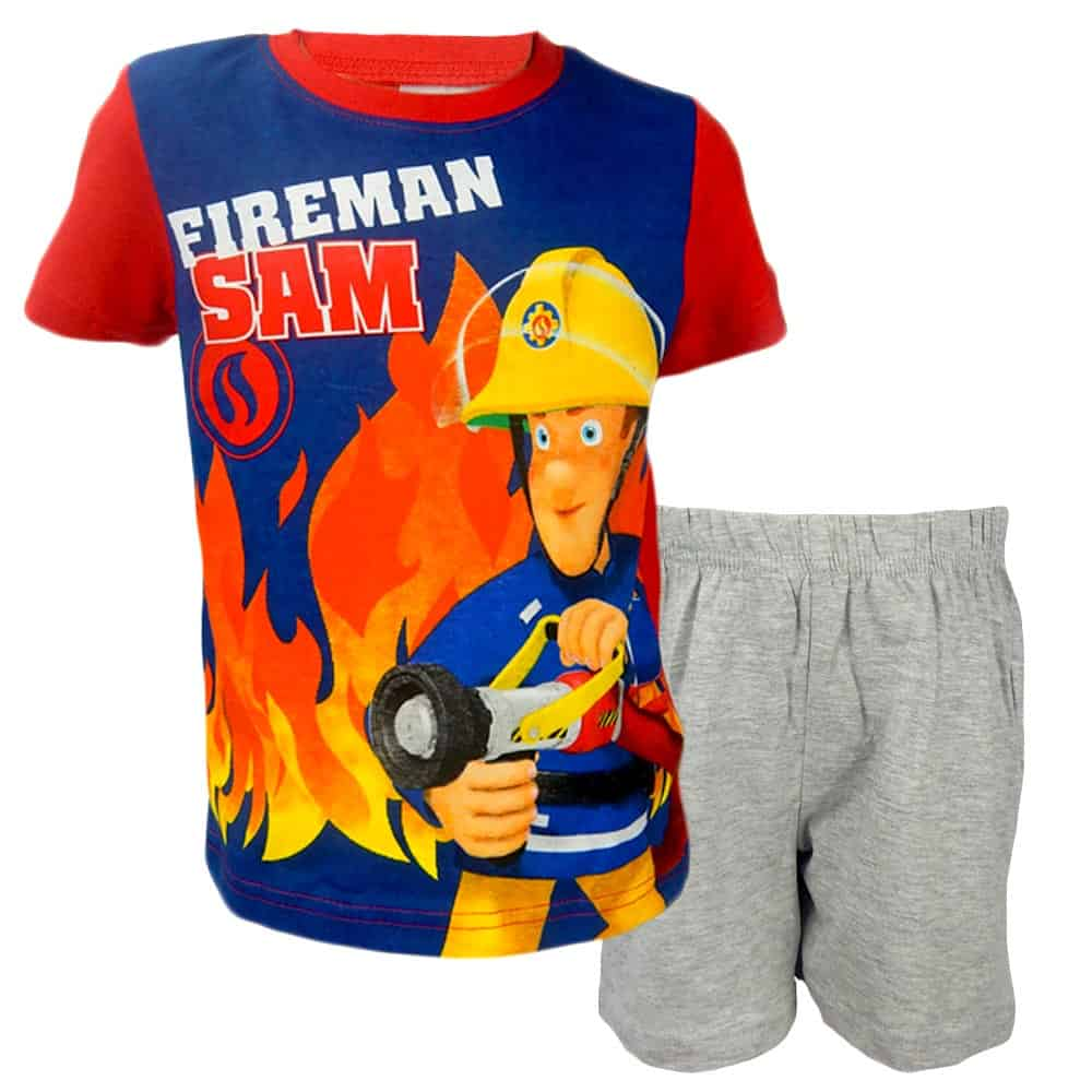 Set baieti de vara cu Pompierul Sam
