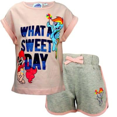 Set fete – tricou si pantaloni scurti cu Little Pony