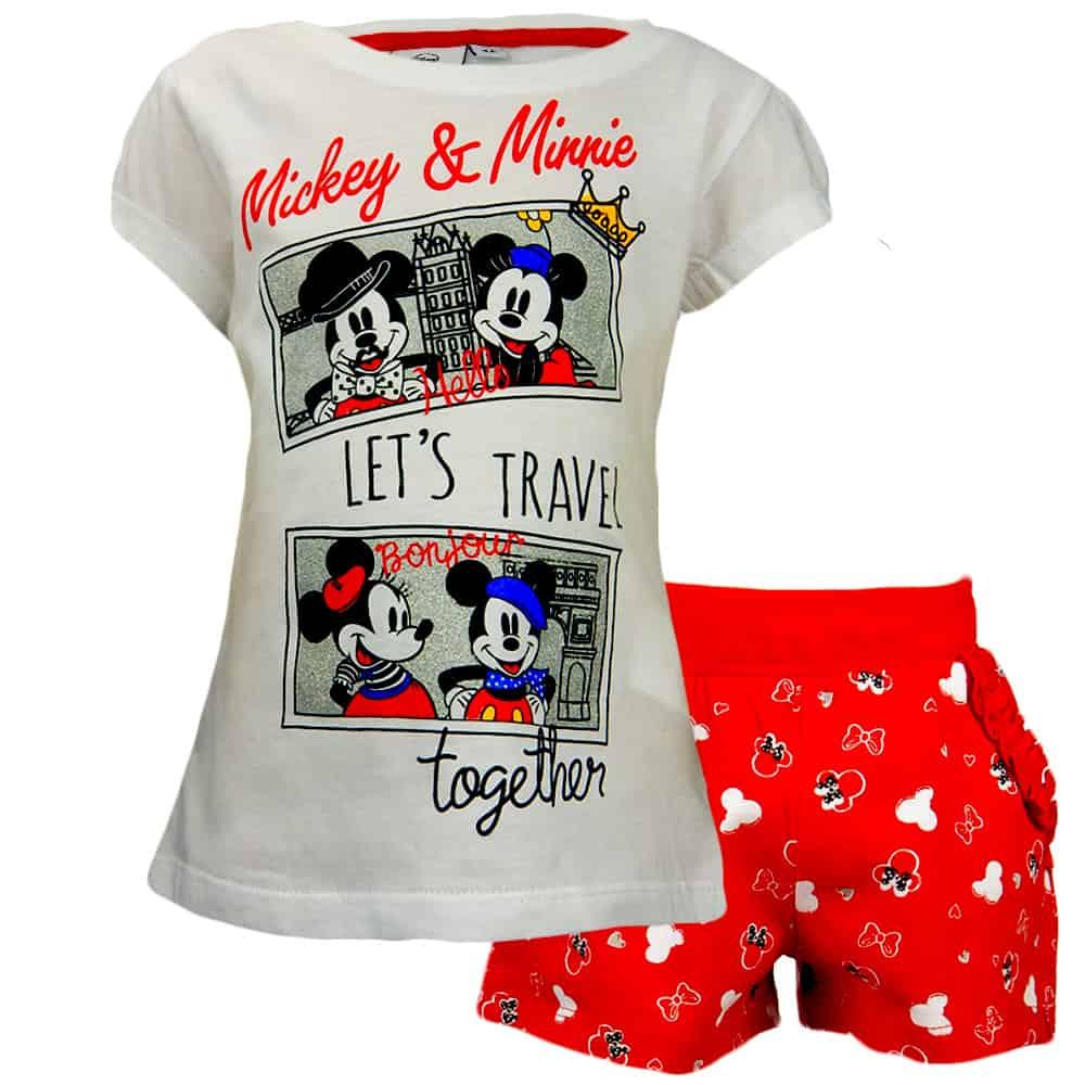 Set pentru fete cu Minnie Mouse. Haine de vara