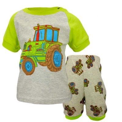 Alege set baieti de vara cu tractor