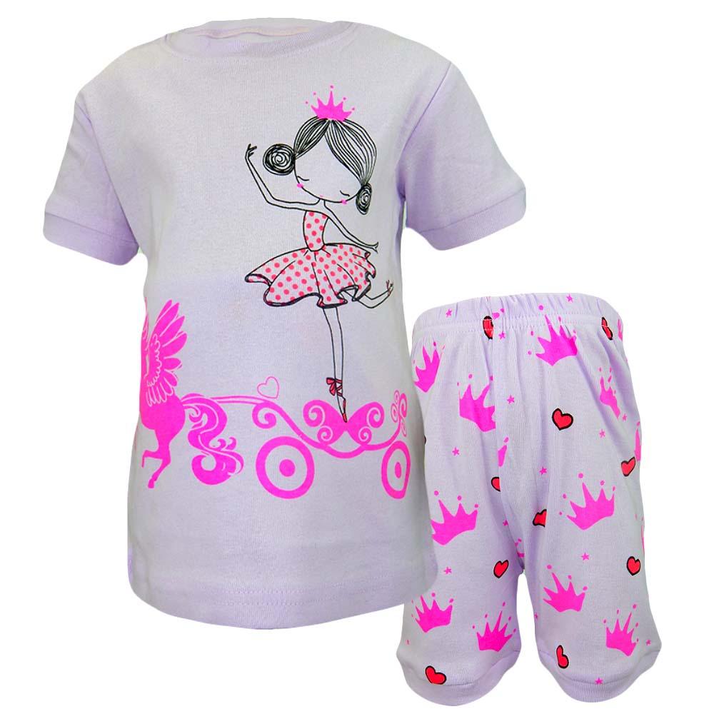 Pijamale pentru fete cu printese
