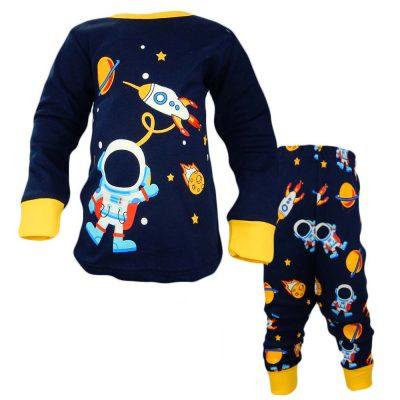 Pijamale pentru baieti cu astronauti