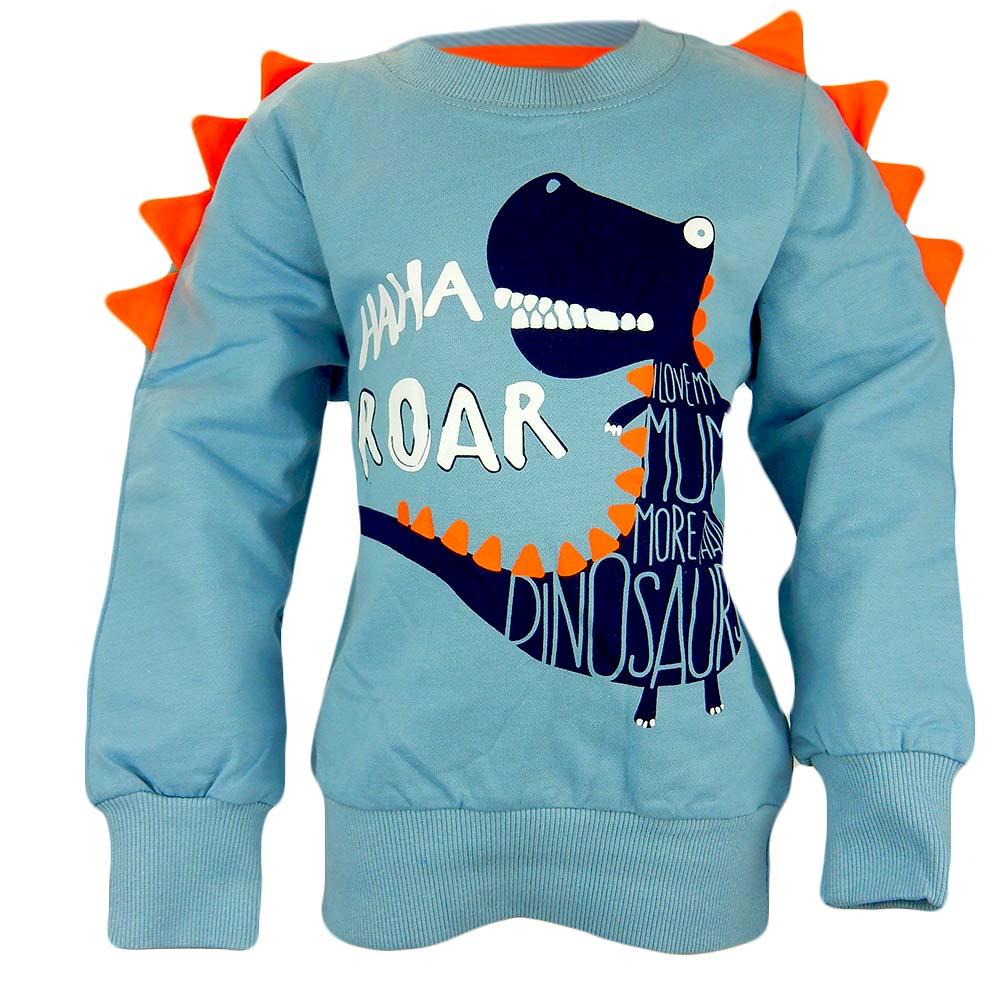 Alege bluza baieti cu dinozaur