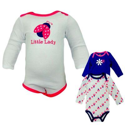 Set body bebe fetite – 3 bucati