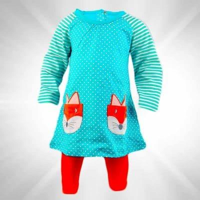 Set bluza si colanti pentru fete.