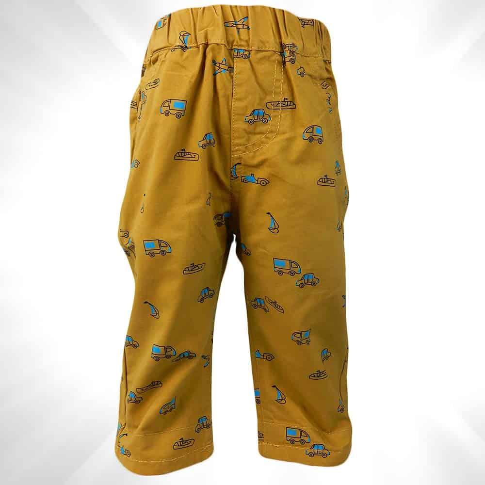 Pantaloni pentru baieti cu masinute